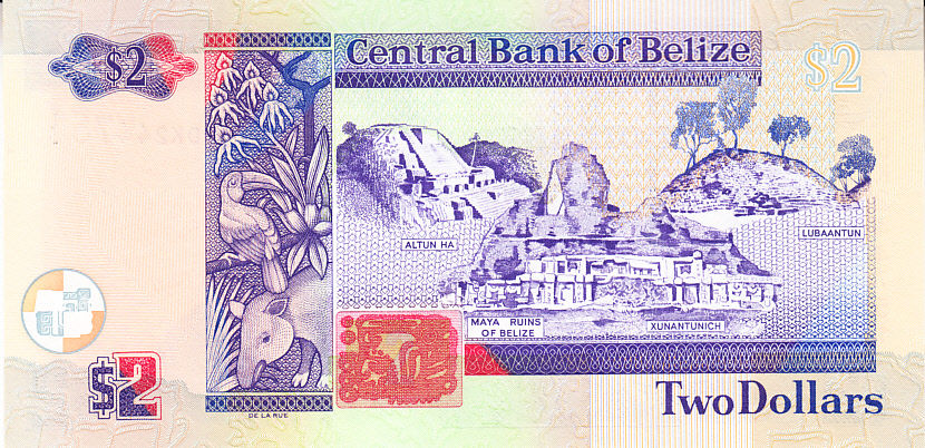 Banknote of Belize $ 2 2011