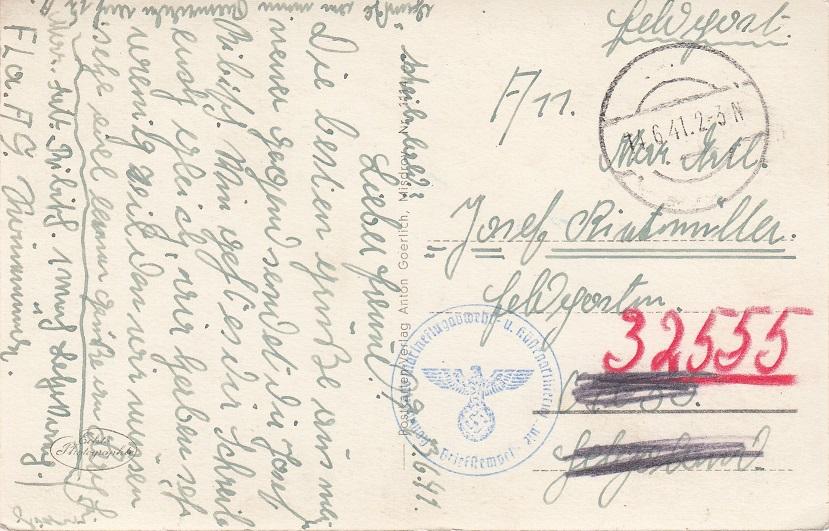 Хорьками, как написать открытку в германию