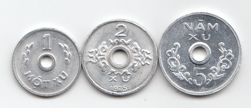 South Vietnam Set of 3 coins 1975 year
