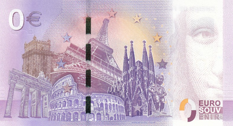 France Souvenir banknote 0 euro 2017 - Railway in the Somme Bay