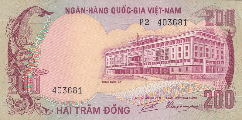 South Vietnam Banknote 200 dong 1972